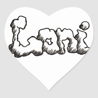 Personalized Loni Products Heart Stickers