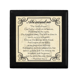 Personalized Lord's Prayer Bible Verse Trinket Box