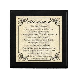 Personalized Lord's Prayer Bible Verse Trinket Box