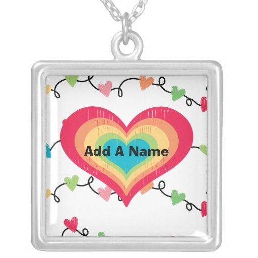 Personalized Lotsa Hearts  Necklace