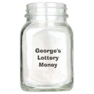 "Personalized ""Lottery Money"" Jar"