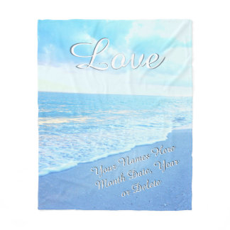 Personalized Love Beach Wedding Throw Blanket