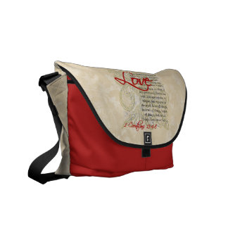 Personalized Love Bible Verse Christian Messenger Courier Bag