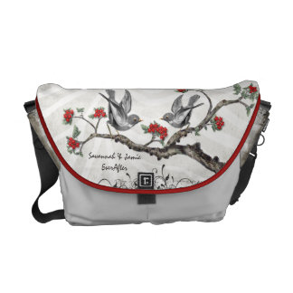 Personalized Love Bird Honeymoon Messenger Bags