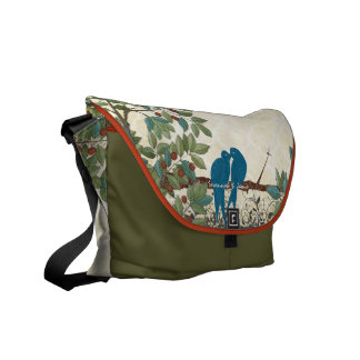 Personalized Love Bird Messenger Bags