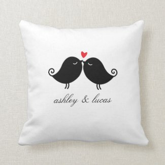 Personalized Love Birds Valentine's Day Pillow