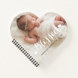 Personalized Love Blessed Baby Photo Notebook