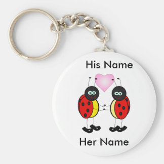 Personalized love bugs key chain
