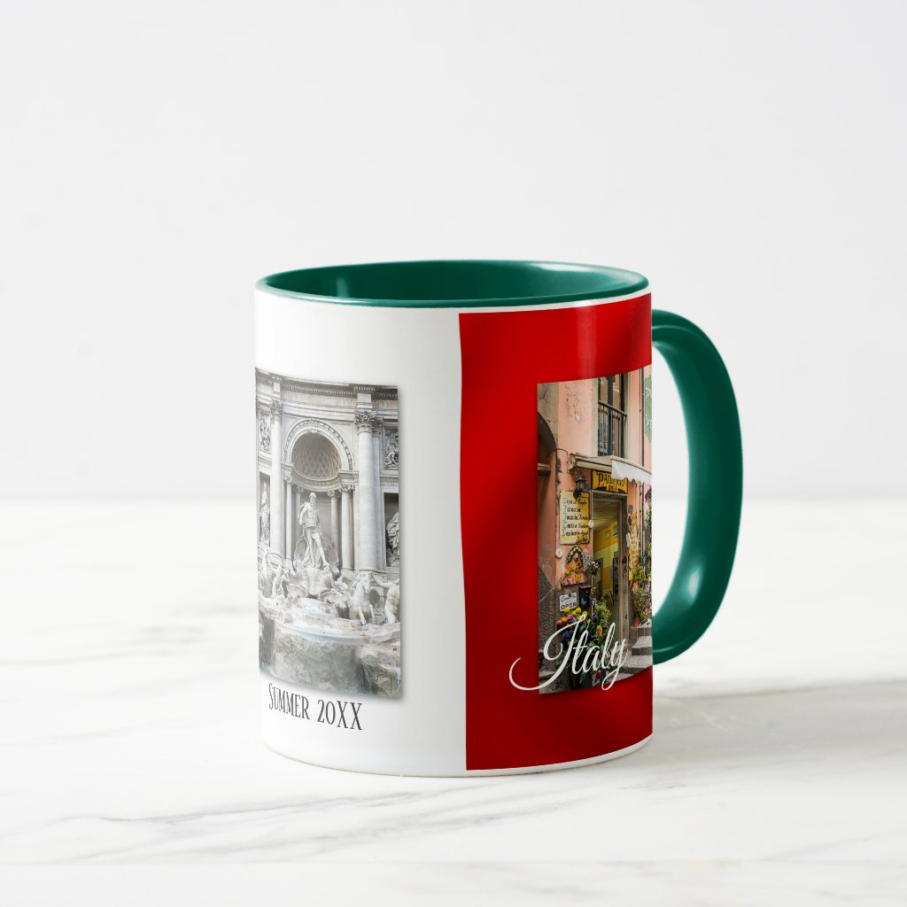Personalized Love Italy Flag Photo Mug