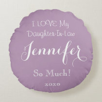 Personalized LOVE MY DAUGHTER-IN-LAW Throw Pillow