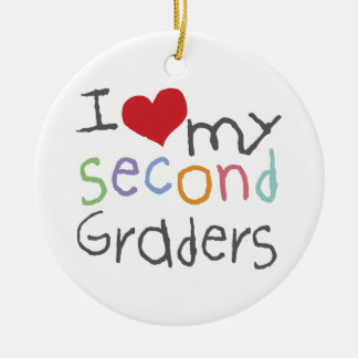 Personalized Love My Seecond Graders Ornament