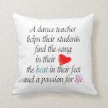 Personalized Love to Teach Dance - Dance Recital Throw Pillow