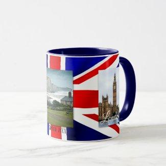 Personalized Love UK Flag Photo Mug