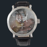 """Personalized """"Love you Dad"""" Photo Watch<br><div class=""""desc"""">Personalize this watch,  featuring the words,  """"Love you Dad"""" with a photo from Instagram,  your computer or phone and your name. If you need any help customizing this,  please message me using the button below and I'll be happy to help.</div>"""