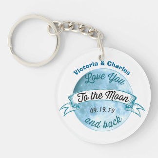 Personalized Love You to the Moon and Back Keychain