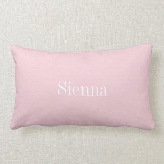 Personalized lumbar pillow, pink lumbar pillow