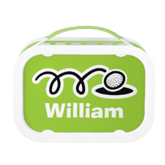 Personalized lunch box for children | golf sport
