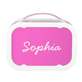 Personalized Lunch Box For Girls | Pink at Zazzle