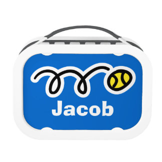 Personalized lunchbox for kids | Tennis ball print
