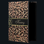"Personalized Lush Celtic Leopard iPad Air Case<br><div class=""desc"">Personalized Lush Celtic Leopard Animal Print iPad Air Case. Fill in your name at the prompt to personalize and customize anyway you like. A special treat for any leopard lover's new iPad Air. The Celtic knots are a metallic black, bronze and dark gold on a leopard print background. The Celtic...</div>"