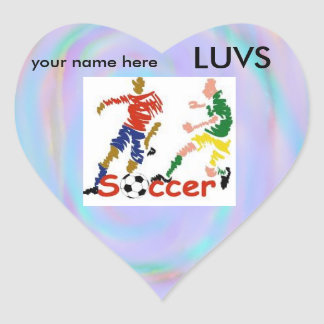 Personalized LUVS soccer stickers