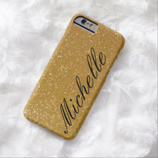 Personalized luxe faux gold glitter iPhone 6 case