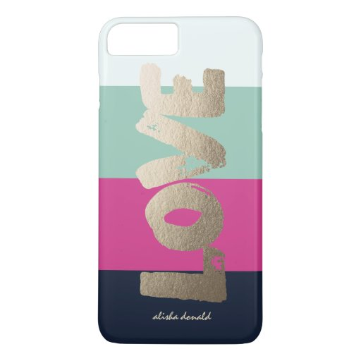 Personalized : Luxe Stripes iPhone 7 Plus Case : Zazzle