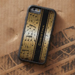 Personalized Luxury Gold and Black Music Notes Tough Xtreme iPhone 6 Case