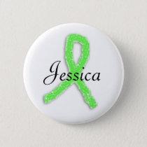 Personalized Lyme Disease Ribbon Button