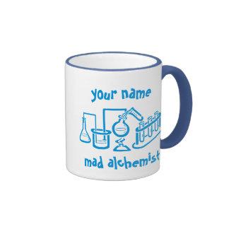 Personalized Mad Alchemist Ringer Mug