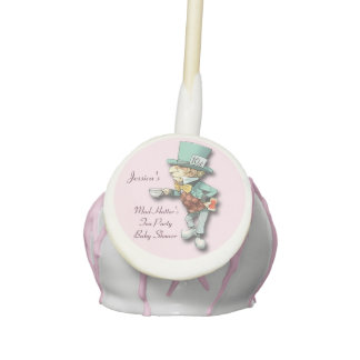 Personalized Mad Hatter's Tea Party Baby Shower Cake Pops