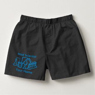 Personalized Mad Scientist Laboratory Boxers