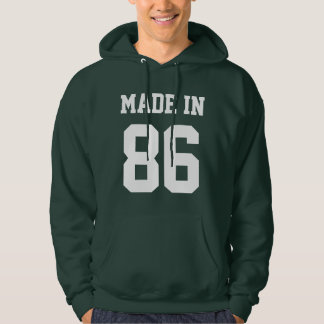 Personalized Made In Custom Birthday Year Hooded Pullover