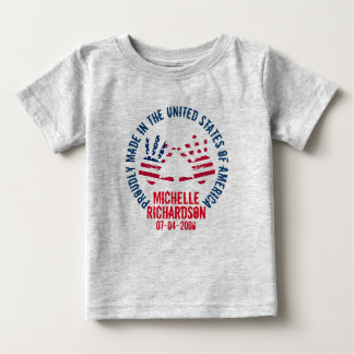 Personalized Made In The USA Baby T-Shirt