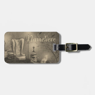 Personalized Magical Study Newsprint Bag Tag