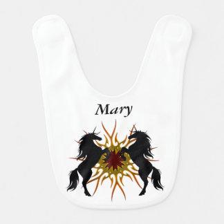 Personalized Magical Unicorns Baby Bib