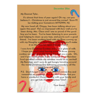 Personalized Magnetic Name Letter from Santa Magnetic Card