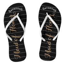 Personalized Maid of Honor Gold or Any Color Flip Flops