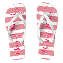 Personalized Maid of Honor Pink or Any Color Flip Flops