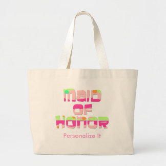 Personalized Maid of Honor Tote Bag