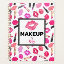 Personalized Makeup Artist Watercolor Makeup Planner