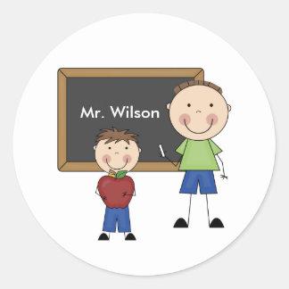 Personalized Male Teacher Stickers