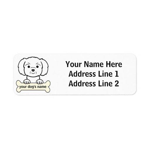 Personalized Maltese Return Address Label