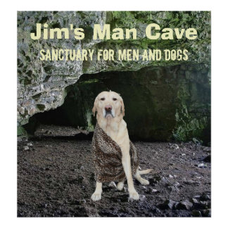Personalized Man Cave Art Poster