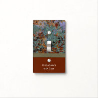 Personalized Man Cave Lichen Stone Texture Light Switch Plates
