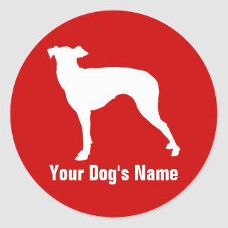 Personalized Manchester Terrier マンチェスター・テリア Classic Round Sticker