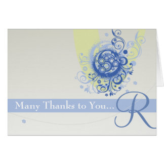 Personalized Many Thanks Card
