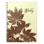 Personalized Maple Leaf Stamp Notebook