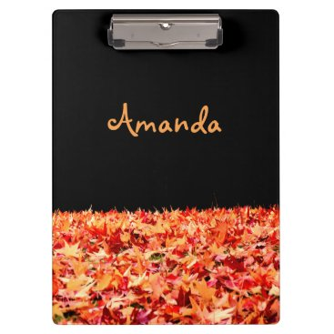 Beach Themed Personalized Maple Leaves Clipboard