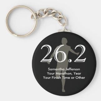 Personalized Marathon Runner 26 2 Keepsake Black Keychain